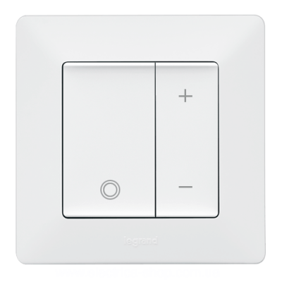 Valena LIFE Світлорегулятор натискний RL,CFL,LED Білий