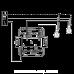 Valena LIFE Вимикач 10АХ 250В 2-клавішний з підсвічуванням, слонова кістка