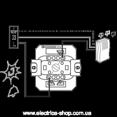 Valena LIFE Вимикач 6А 250В кнопковий, автоматичні клеми, слонова кістка