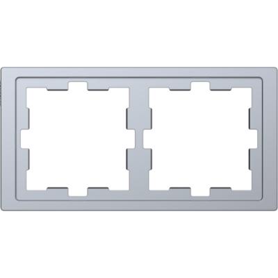 Рамка 2-постовая D-Life «Нержавеющая сталь», MTN4020-6536