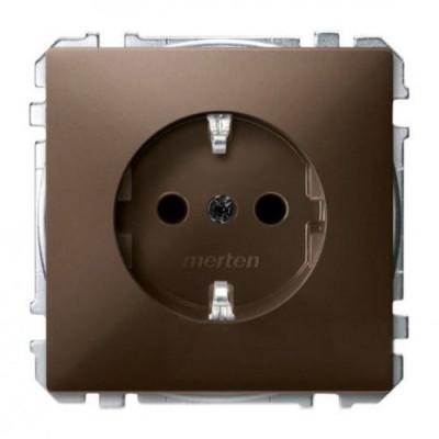 Розетка с заземлением Merten SD MTN2300-4015 коричневый