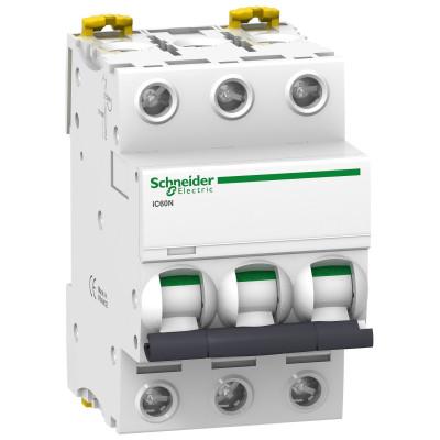 Автоматичний вимикач iC60N 3P 63A тип C