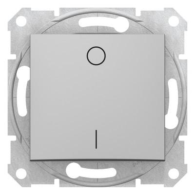 2-x полюсный одноклавишный выключатель SEDNA алюминий SDN0200160