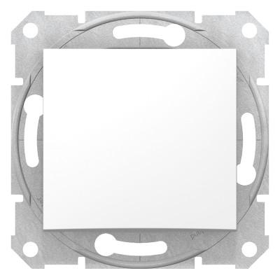 2-Х полюсний одноклавішний вимикач SEDNA білий SDN0200221