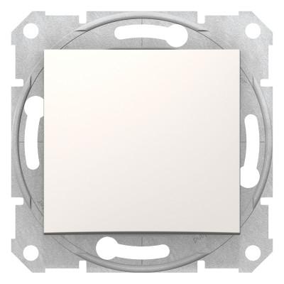 2-Х полюсний одноклавішний вимикач SEDNA слонова кістка SDN0200223