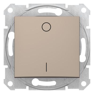 2-Х полюсний одноклавішний вимикач SEDNA титан SDN0200168