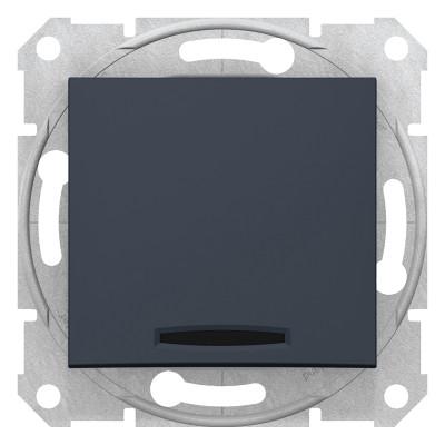 2-Х полюсний одноклавішний вимикач з індикацією SEDNA графіт SDN0201170