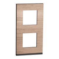 2 постовая рамка вертикальная Unica Pure дуб NU6004V84