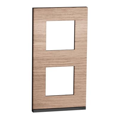 2 постова рамка вертикальна Unica Pure дуб NU6004V84