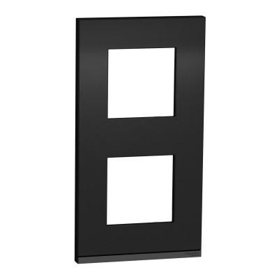 2 постовая рамка вертикальная Unica Pure камінь NU6004V87