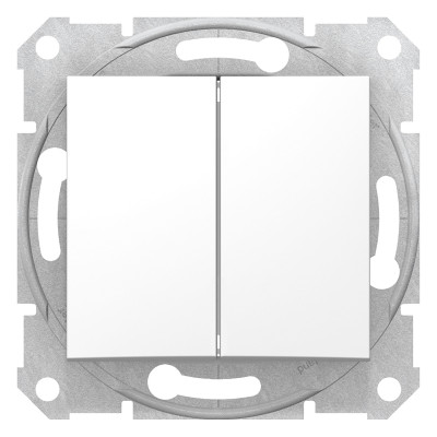 Двухклавишный выключатель SEDNA белый SDN0300121