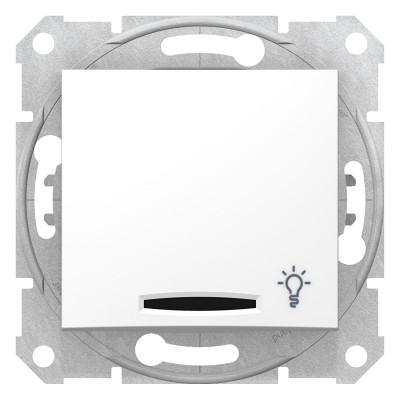 Кнопочный выключатель SEDNA с символом
