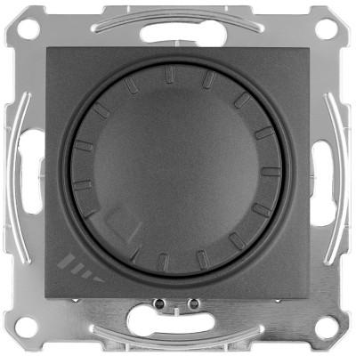 LED димер поворотно-натискний 4-400Вт SEDNA графіт SDN2201270