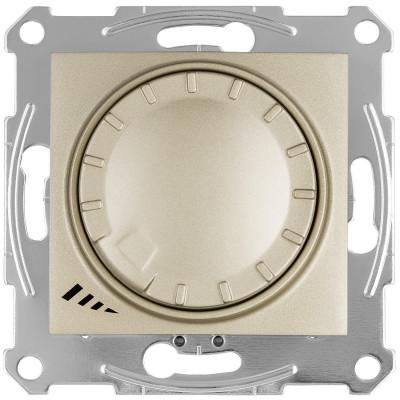 LED димер поворотно-натискний 4-400Вт SEDNA титан SDN2201268