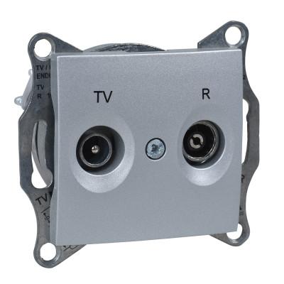 TV/R розетка прохідна SEDNA алюміній SDN3301360