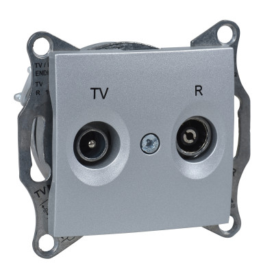 TV/R розетка прохідна SEDNA алюміній SDN3301860