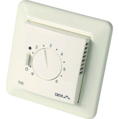 Терморегулятор Devi Devireg 530, 5-35 °C, датчик пола, 16 А 140F1030