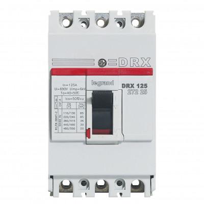 Автоматичний вимикач DRX125, 3п 125 А Legrand 027225