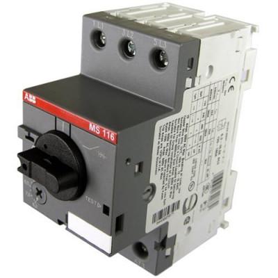 Автомат захисту двигуна 3-п Abb MS116-6,3А