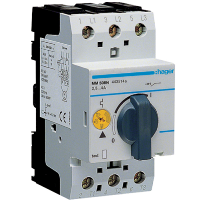 Автомат захисту двигуна Hager ММ509N 4-6A