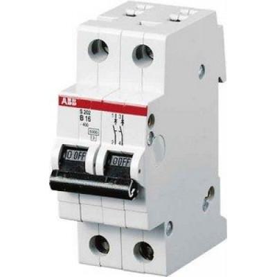 Автоматичний вимикач 2-полюсний Abb «Compact Home» SH202 B63 A