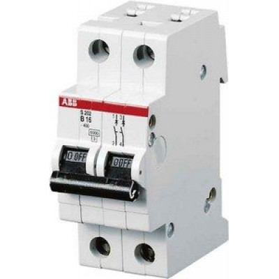Автоматичний вимикач 2-полюсний Abb «Compact Home» SH202 В16 A
