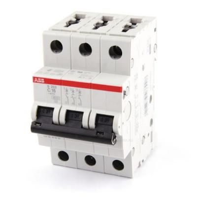 Автоматичний вимикач 3-фазний Abb S203 C16 A