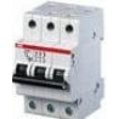 Автоматичний вимикач 3-фазний ABB SH203 6 Ампер, тип — «B»
