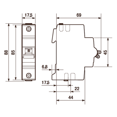Автоматичний вимикач Abb «Compact Home» 1-фазний 20 Ампер, тип-«B»