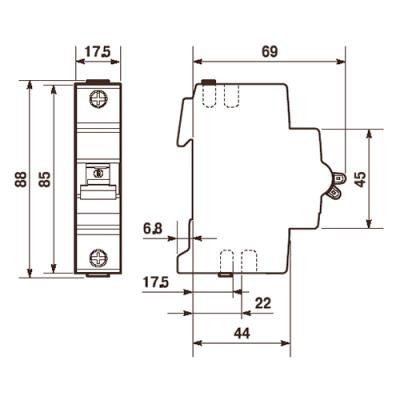 Автоматичний вимикач Abb «Compact Home» 1-фазний 50 Ампер, тип-«B»