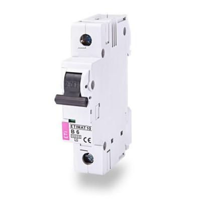 Автоматичний вимикач ETI ETIMAT 10 1p D 10А (10 kA)
