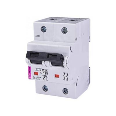 Автоматичний вимикач ETI ETIMAT 10 2p B 125А (15kA)