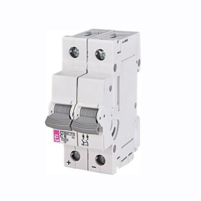 Автоматичний вимикач ETI ETIMAT 10 2p D 2А (10 kA)