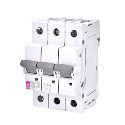 Автоматичний вимикач ETI ETIMAT 10 3p D 20А (10 kA)