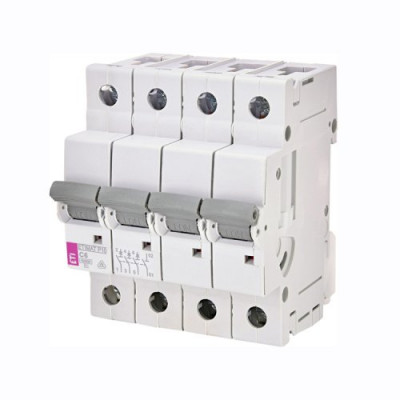Автоматичний вимикач ETI ETIMAT 10 3p+N D 2А (10 kA)