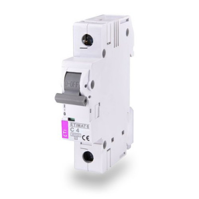 Автоматичний вимикач ETI ETIMAT 6 1p C 2A (6kA)