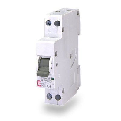 Автоматичний вимикач ETI ETIMAT 6 1p+N (1мод.) B 16А (6 kA)