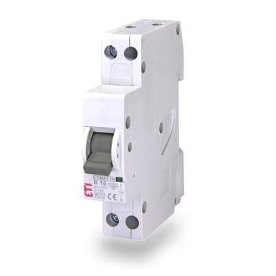 Автоматичний вимикач ETI ETIMAT 6 1p+N (1мод.) B 6А (6 kA)