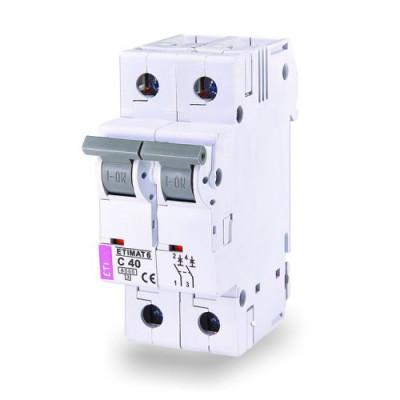 Автоматичний вимикач ETI ETIMAT 6 2p D 6A (6kA)