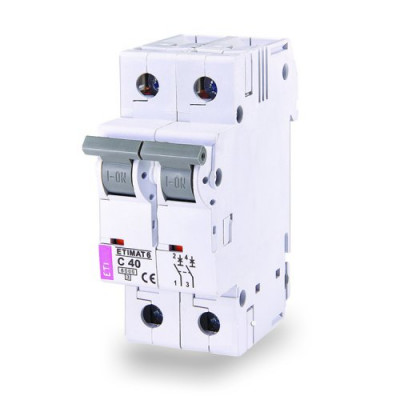 Автоматичний вимикач ETI ETIMAT 6 2p В 63А (6 kA)