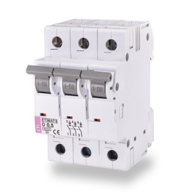 Автоматичний вимикач ETI ETIMAT 6 3p B 6А (6 kA)