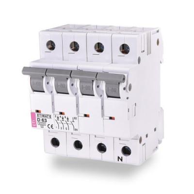 Автоматичний вимикач ETI ETIMAT 6 3p+N C 10А (6 kA)