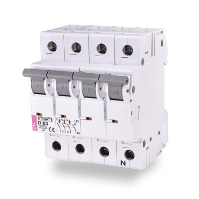 Автоматичний вимикач ETI ETIMAT 6 3p+N C 25А (6 kA)