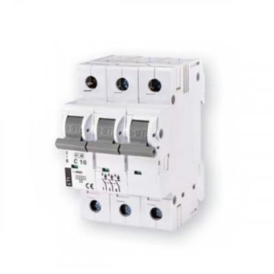 Автоматичний вимикач ETI ST-68 3p B 10А (4,5 kA)