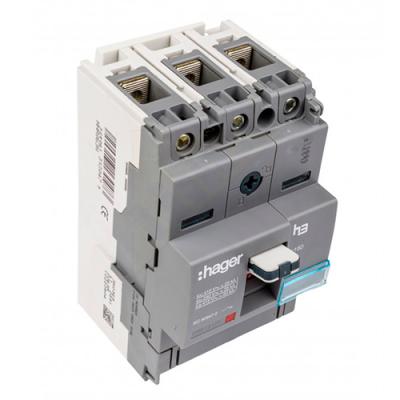 Автоматичний вимикач h160 3-полюси 18kA 125A Hager HDA125L