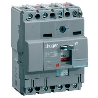Автоматичний вимикач h160 4-полюси 18kA 80A Hager HDA081L
