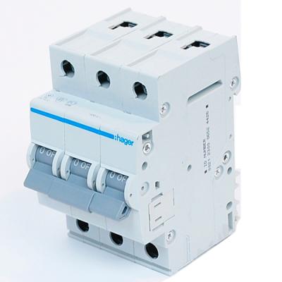 Автоматичний вимикач HAGER MB306A 6А, 3ф, B 6 кА