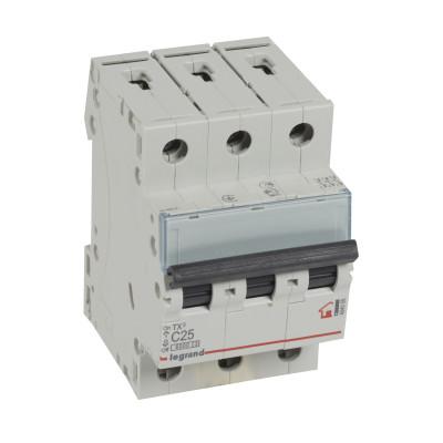 Автоматичний вимикач 3-п Legrand TX3 С25, 6кА