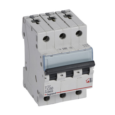 Автоматичний вимикач 3-п Legrand TX3 С50, 6кА, 404061