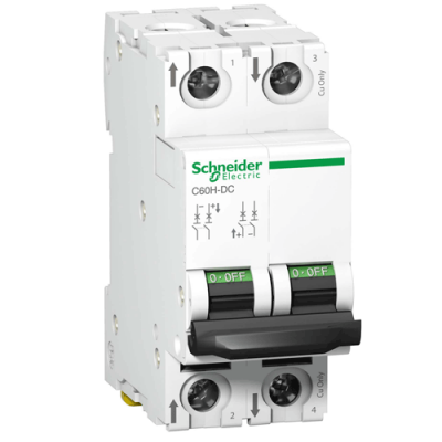 Автоматичний вимикач C60H-DC, 2P, 6A, C